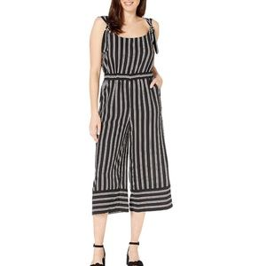 Anthropologie ECI Striped Crop Wide Leg Jumpsuit M